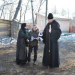 Глава Приморской митрополии осмотрел реставрируемую часовню святого Александра Невского в Марфо-Мариинском женском монастыре